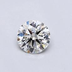 0.50 Carat 圓形 Diamond 理想 I VS2