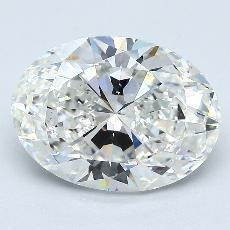 3.50-Carat Oval Diamond Very Good G VS2