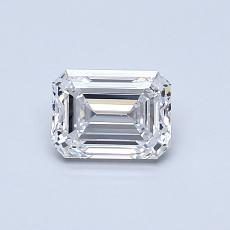 Recommended Stone #4: 0.63-Carat Emerald Cut Diamond
