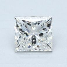 1.00-Carat Princess Diamond Very Good G SI2