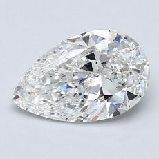 Piedra recomendada 2: Diamante en forma de pera de1.20 quilates