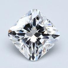 1.50-Carat Cushion Diamond Very Good F VS2