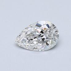 0.51-Carat Pear Diamond Very Good E IF