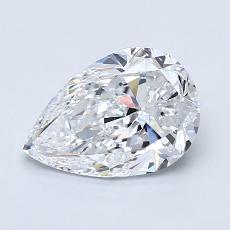 1.20 Carat 梨形 Diamond 非常好 D IF