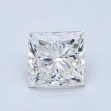 1.00-Carat Princess Diamond Very Good E VVS2