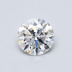 0.70 Carat 圓形 Diamond 理想 E VVS2