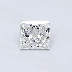 0,46 Carat Princesse Diamond Très bonne G VVS2