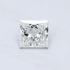 0.46 Carat Princesa Diamond Muy buena G VVS2