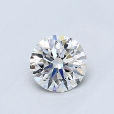 0.61-Carat Round Diamond Ideal G VS2