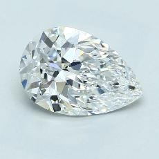 2.05-Carat Pear Diamond Very Good D VS1