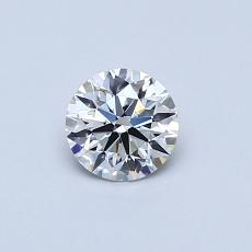 0.41-Carat Round Diamond Ideal F VVS1