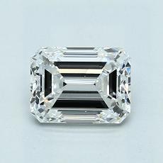 1.00 Carat 绿宝石 Diamond 非常好 D VVS2