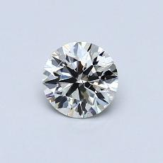 0.50-Carat Round Diamond Ideal K SI1