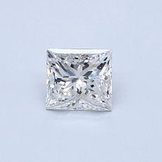 0.51 Carat プリンセス Diamond ベリーグッド G SI1