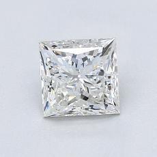 1.00 Carat 公主方形 Diamond 非常好 G VS2