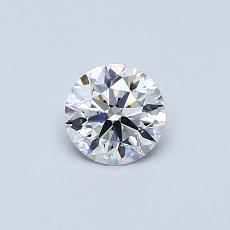 0.40-Carat Round Diamond Ideal D FL