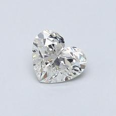 0.50-Carat Heart Diamond Very Good H VS2
