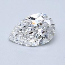 0,70-Carat Pear Diamond Very Good D VVS1