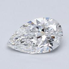 0.81-Carat Pear Diamond Very Good D VVS1