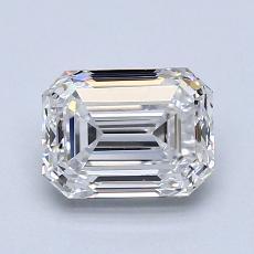1.51-Carat Emerald Diamond Very Good D VVS1