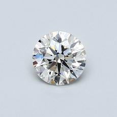 0,50-Carat Round Diamond Ideal H VVS2