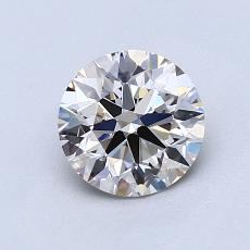 1.01-Carat Round Diamond Ideal K VVS2