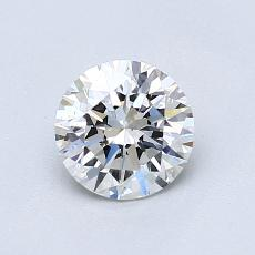 0,80-Carat Round Diamond Ideal F VS1