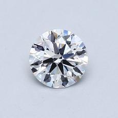 0,60 Carat Rond Diamond Idéale D IF