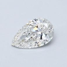 0,60-Carat Pear Diamond Very Good E VS2