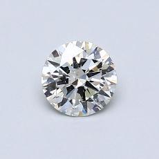 0.50 Carat 圓形 Diamond 理想 I SI2