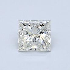 所選擇的鑽石: 0.70  克拉公主方形鑽石
