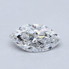 0.50 Carat 欖尖形 Diamond 非常好 D SI1