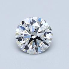 0,71 Carat Redondo Diamond Ideal D VS1