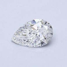 0.52 Carat 梨形 Diamond 非常好 D VVS2