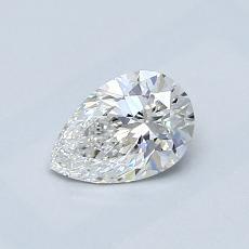 0.53-Carat Pear Diamond Very Good F VS1