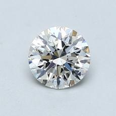0.77 Carat 圓形 Diamond 理想 F SI1