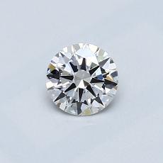 0.40 Carat 圆形 Diamond 理想 F VS2