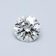 0,50-Carat Round Diamond Ideal H VVS2