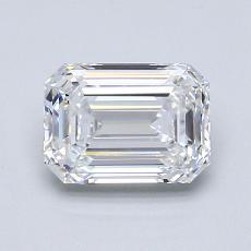 1.03-Carat Emerald Diamond Very Good D VS1