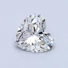 Recommended Stone #1: 0,80-Carat Heart Cut Diamond