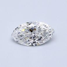 0,59-Carat Marquise Diamond Very Good F VVS2