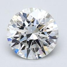 2.02-Carat Round Diamond Ideal F VS2