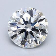 2.02-Carat Round Diamond Ideal F VS1