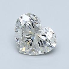 Piedra recomendada 1: Diamante con forma de corazón de 1.10 quilates