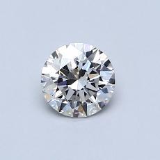 0.51 Carat 圆形 Diamond 理想 H VVS2