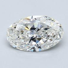 1.20 Carat 椭圆形 Diamond 非常好 G VS1