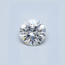 0.32-Carat Round Diamond Ideal F VS2
