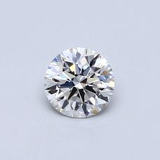 0,40 Carat Rond Diamond Idéale E IF