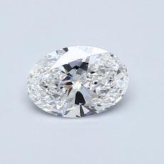 推荐宝石 3:0.57克拉椭圆形切割钻石