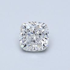 0.50-Carat Cushion Diamond Very Good D VVS1